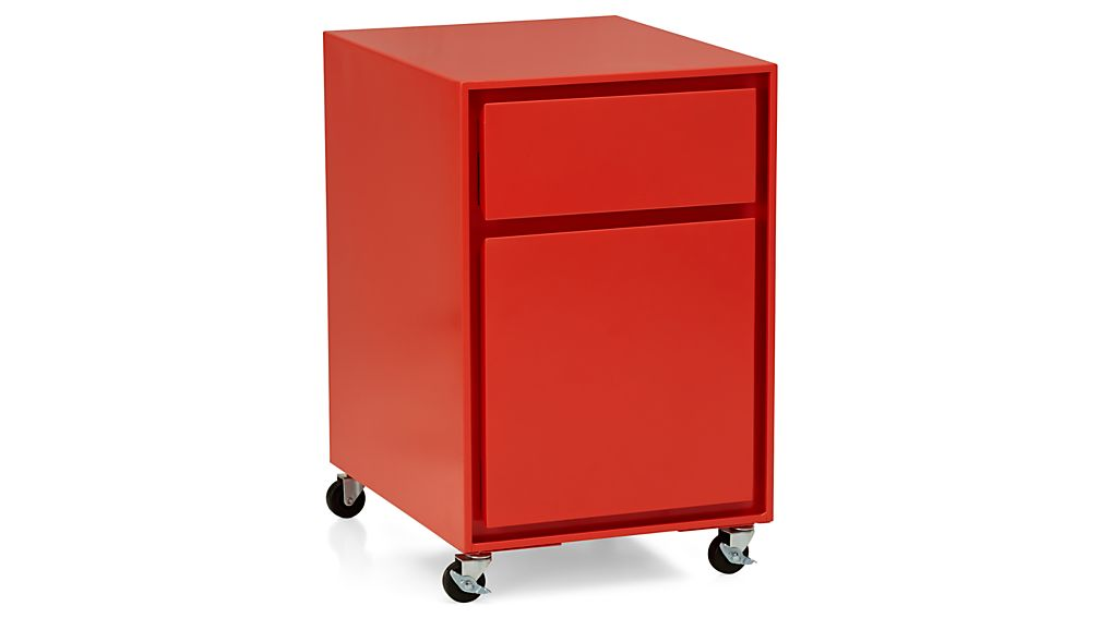 Pilsen Paprika Two Drawer File Cabinet Crate And Barrel