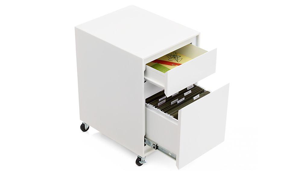 Pilsen Salt Two Drawer File Cabinet Crate And Barrel