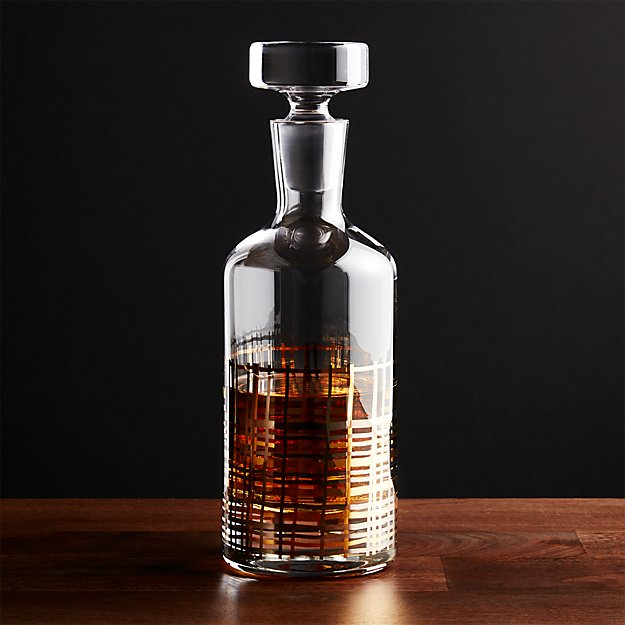 mingle modern whiskey decanter crate and barrel. Black Bedroom Furniture Sets. Home Design Ideas