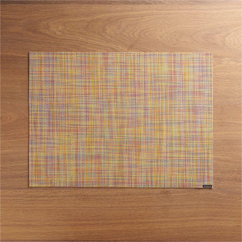 Chilewich ® Mini Basketweave Confetti Vinyl Placemat