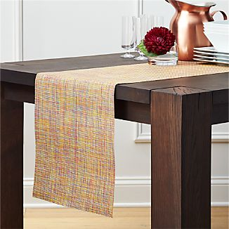 Chilewich ® Mini Basketweave Confetti Vinyl Table Runner