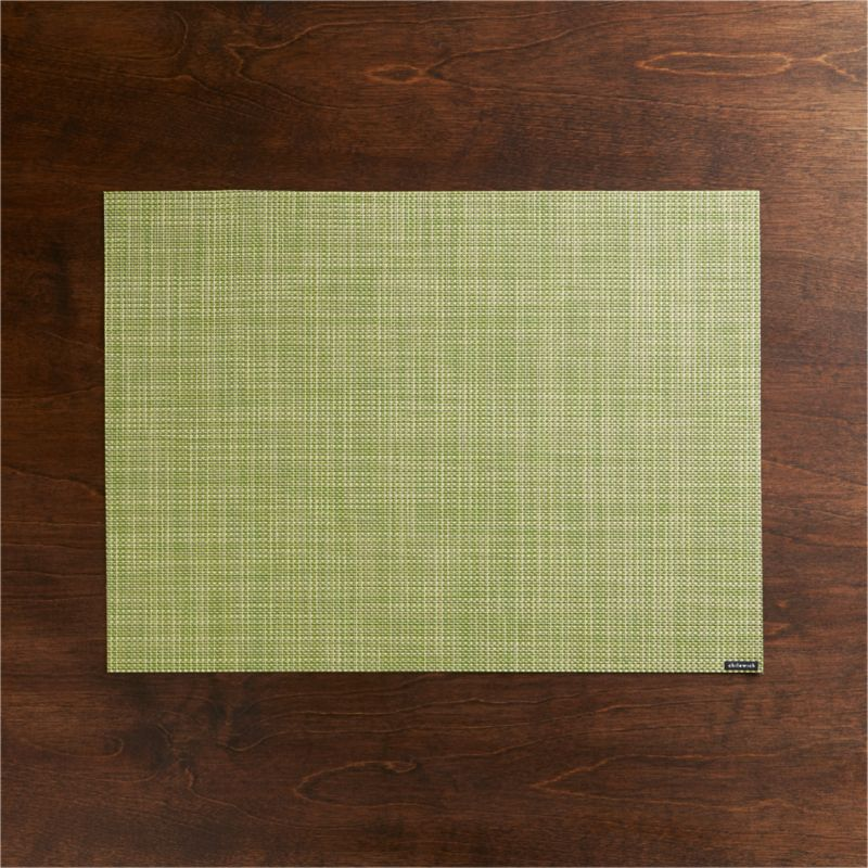 Chilewich ® Mini Basketweave Dill Vinyl Placemat