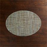 Chilewich ® Mini Basketweave Pistachio Oval Vinyl Placemat