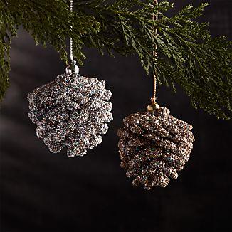 Mini Beaded Pinecone Ornaments