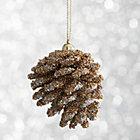 Mini Gold Beaded Pinecone Ornament.