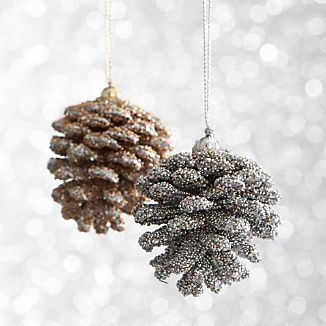 Mini Beaded Pinecone Ornaments