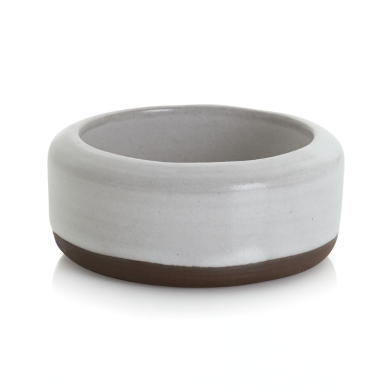 Mini bowls designed to suit your meal, décor or mood. Aaron Probyn's suite of nine small-sized bowls yields big results, offering your choice of size, shape and material for serving sauces, spices and condiments. Great for kitchen prep, too. Charming, rustic bowl has a raw glaze finish, contrasting creamy white with a peek of unglazed stoneware.<br /><br /><NEWTAG/><ul><li>Designed by Aaron Probyn</li><li>100% stoneware</li><li>Dishwasher-, microwave- and oven-safe to 350 degrees</li><li>Made in China</li></ul>