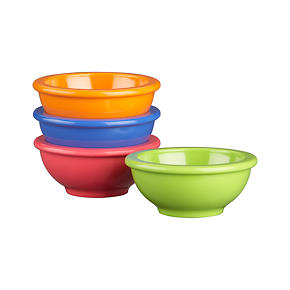Set of 4 Melamine 3.25 Mini Bowls