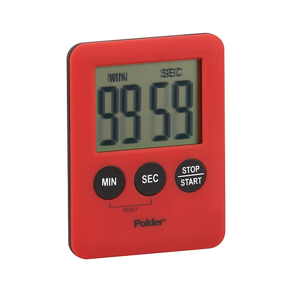 Polder ® Mini Red Magnetic Timer