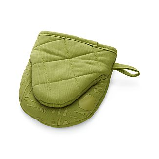 Green Mini Oven Mitt with Silicone Grip