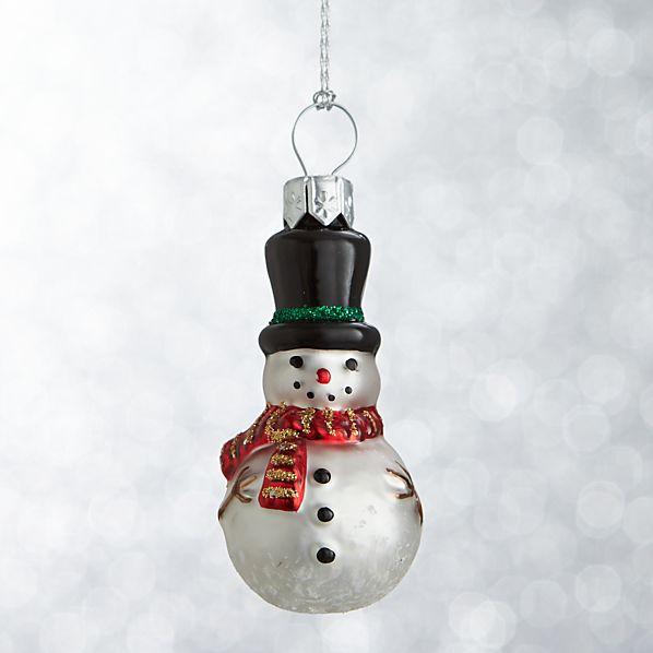 Mini Shapes Snowman Ornament