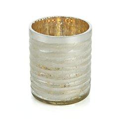 Silver Cut-Glass Tea Light Candle Holder