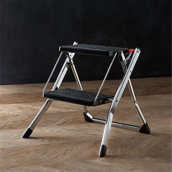Polder ® Chrome Mini Step Stool