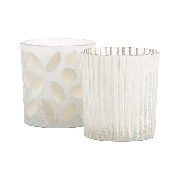 Minx Frosted Glass Votive Candle Holders
