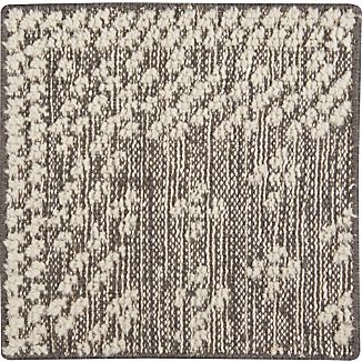 "Mirren Grey Wool Oriental 12"" sq. Rug Swatch"