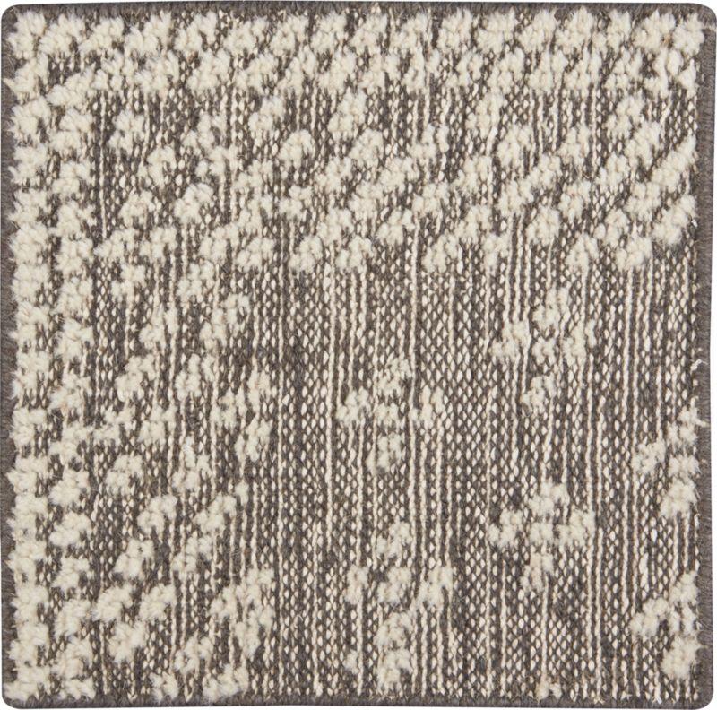 """Mirren Grey Wool Oriental 12"""" sq. Rug Swatch"""