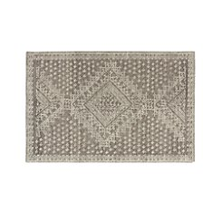 Mirren Grey Wool Oriental 5'x8' Rug