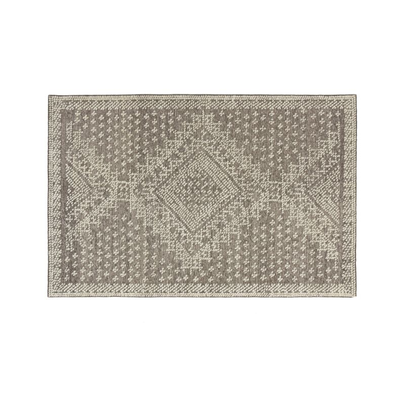 Mirren Grey Wool Oriental 5'x8' Rug