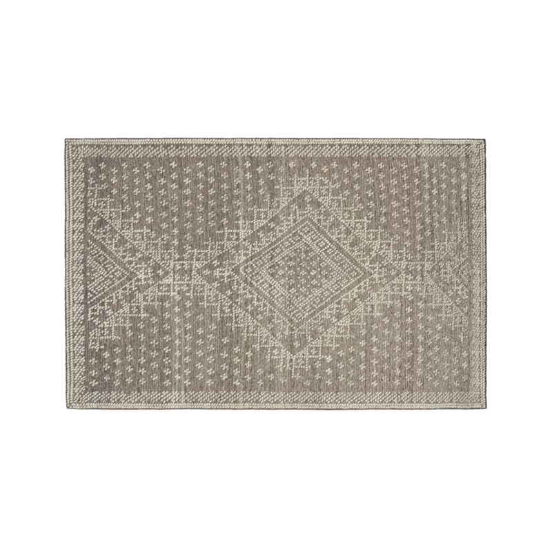 Mirren Grey Wool Oriental 4'x6' Rug