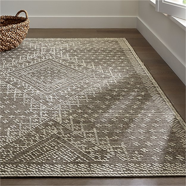 Mirren Grey Wool Oriental Rug