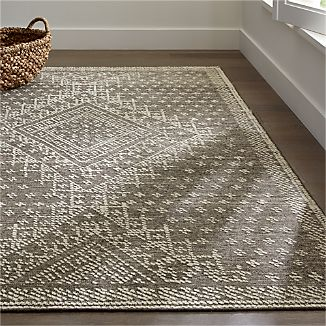 Mirren Grey Wool Oriental Rug
