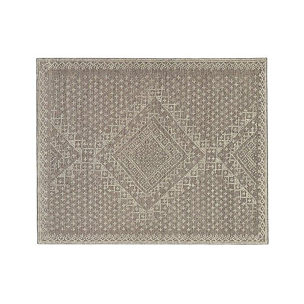 Mirren Grey Wool Oriental 8'x10' Rug
