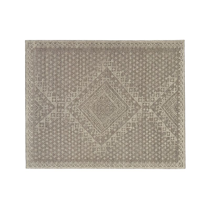 Mirren Grey Wool Oriental 8'x10' Rug
