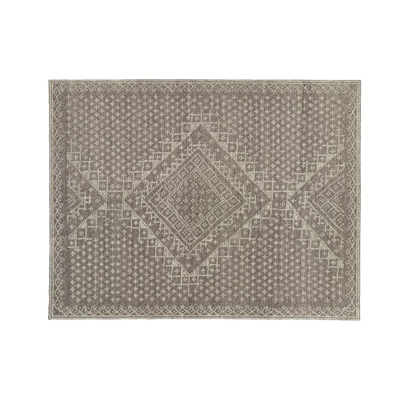 Mirren Grey Wool Oriental 9'x12' Rug