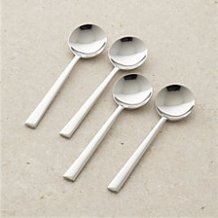 Set of 4 Mix Soup Spoons