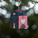Mobile Home House Wooden Ornament