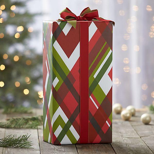 Modern Plaid Gift Wrap