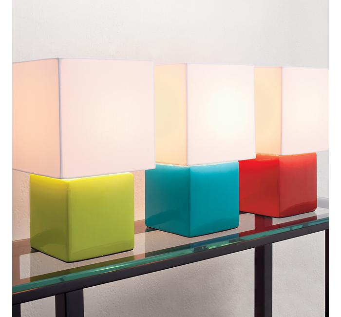 Crate and Barrel - Mod Green Table Lamp