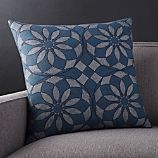 """Mohana Blue 20"""" Pillow with Feather-Down Insert"""