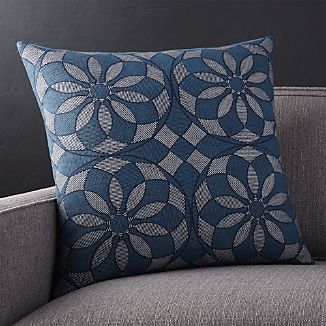 "Mohana 20"" Blue Pillow"