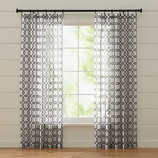 Molly White and Grey Curtains