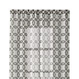 "Molly 48""x84"" White and Grey Curtain Panel"
