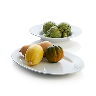 Molto White Oval Serving Platter