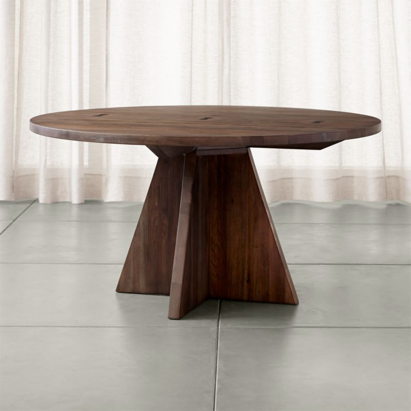 "Monarch Shiitake 60"" Round Dining Table"