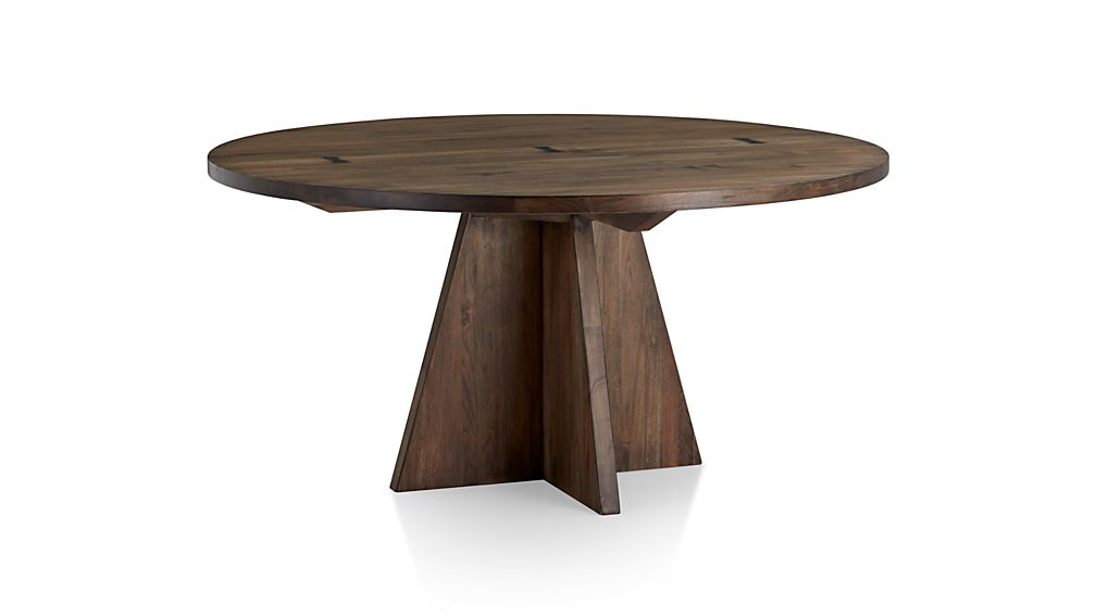 Monarch Shiitake 60u0026quot; Round Dining Table : Crate and Barrel