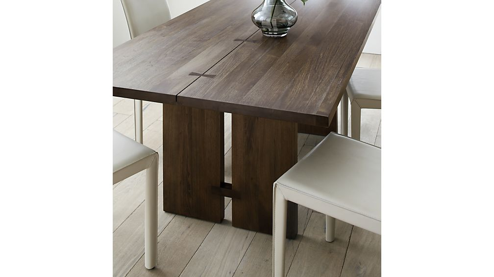 Monarch shiitake 108 dining table crate and barrel for 108 inch dining room table