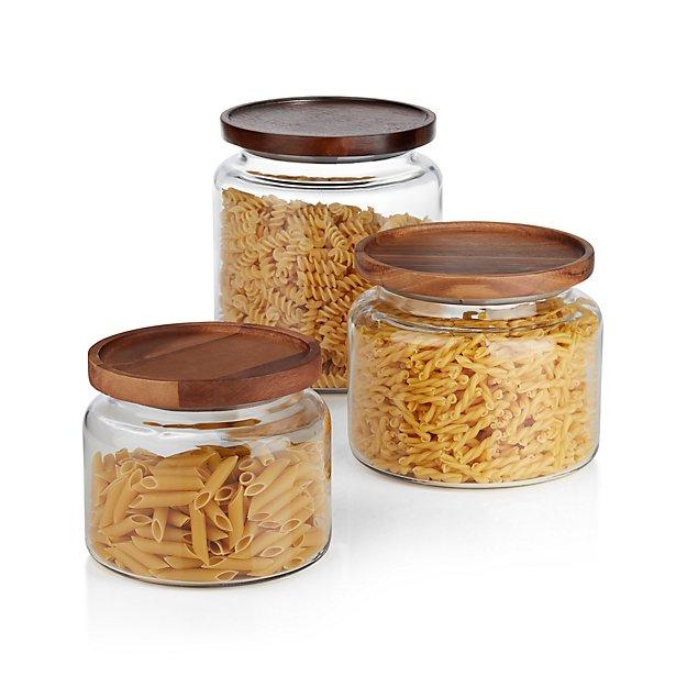 Montana Acacia and Glass Jars