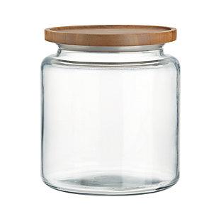 Montana 64 Oz Acacia And Glass Jar Crate And Barrel