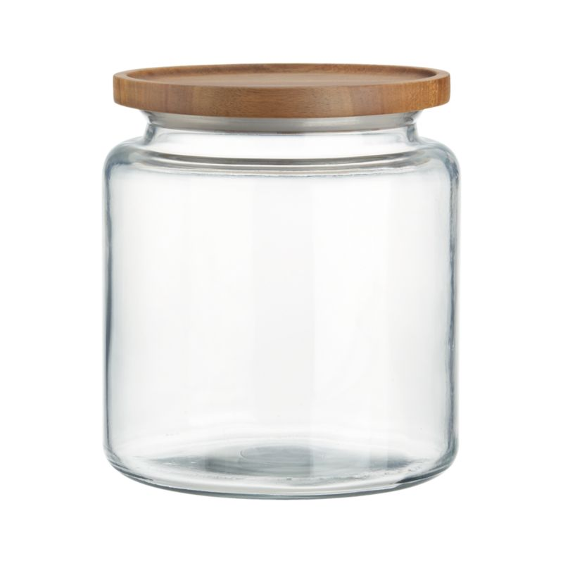 Montana 96 oz. Acacia and Glass Jar