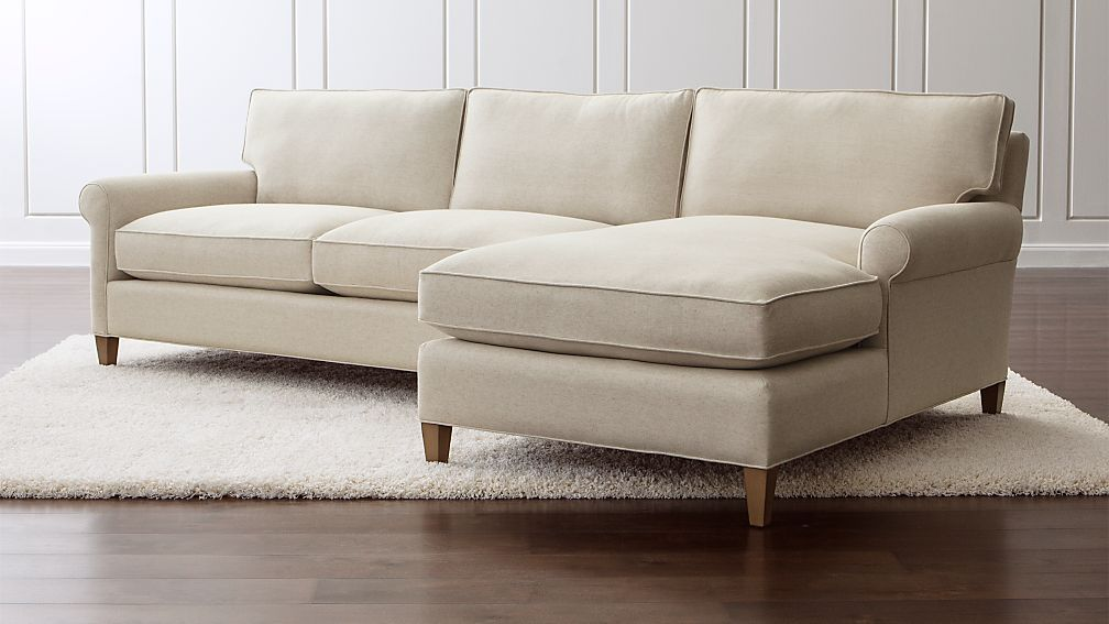 Montclair 2 Piece Sectional Sofa Duet Natural Crate And