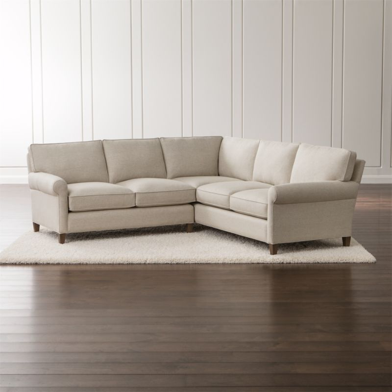 Well-balanced and beautifully tailored, Montclair is a model of classic proportions. Trim roll arms set the tone for this refined living room sectional collection that sits a bit more upright—not too low, not too deep—but with plenty of comfort. <NEWTAG/><ul><li>Frame is benchmade with a certified sustainable hardwood that's kiln-dried to prevent warping</li><li>Flexolator spring suspension system</li><li>Soy-based polyfoam seat cushions wrapped in fiber-down blend and encased in downproof ticking</li><li>Fiber-down blend back cushions encased in downproof ticking</li><li>Hardwood legs stained with a light brown finish</li><li>Made in North Carolina, USA of domestic and imported materials</li></ul>