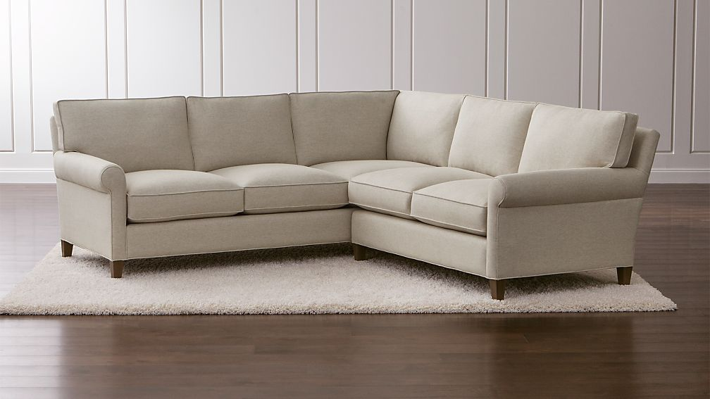 Montclair 2 Piece Sectional Sofa Duet Natural Crate And