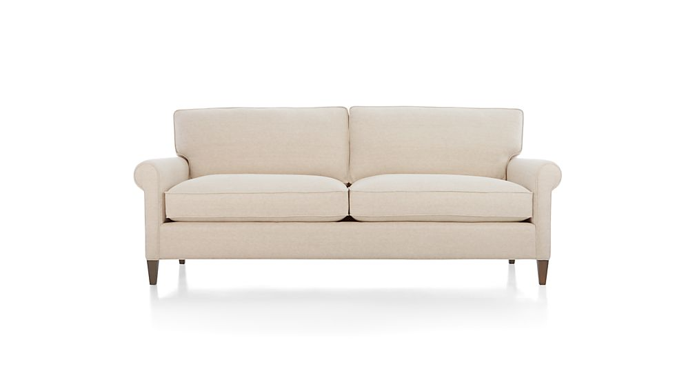 montclair apartment sofa duet natural crate and barrel