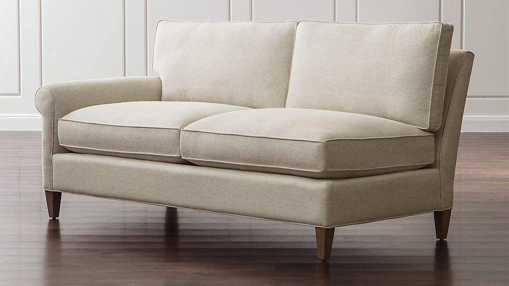 Montclair Left Arm Apartment Sofa Duet Natural Crate