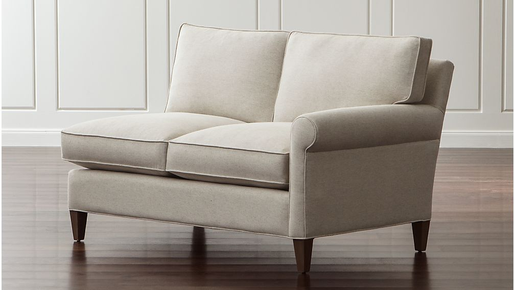 Montclair Right Arm Loveseat Duet Natural Crate And Barrel