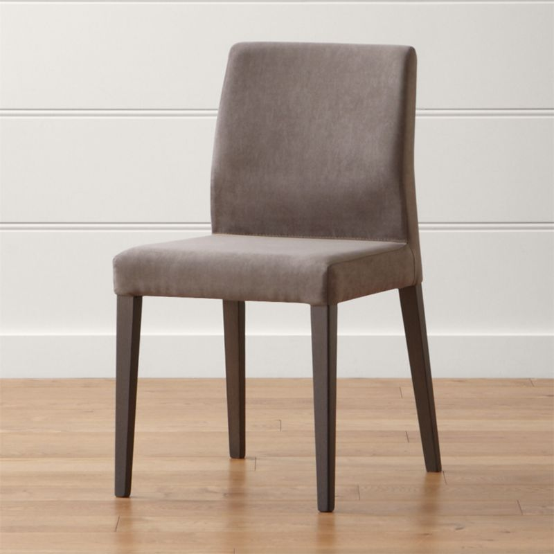 Monterey charcoal dining chair crate and barrel for Best place to buy dining room chairs